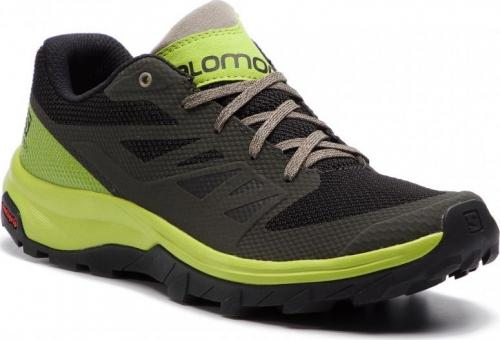 Salomon Buty męskie Outline Beluga/Lime Green/Vintage Kaki r. 41 1/3
