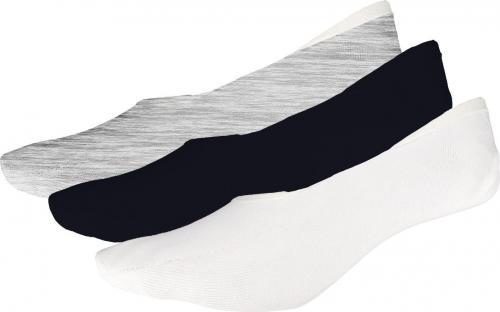 4f Skarpety damskie H4L19-SOD007 białe, chłodny jasny szary melanż, głęboka czerń r. 39-42
