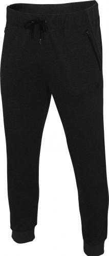 4f Spodnie męskie H4L19-SPMD004 głęboka czerń r. XXL