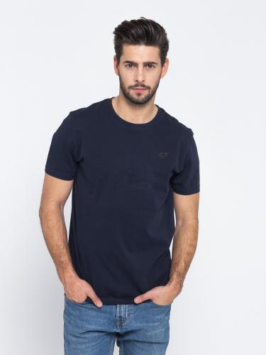 4f Koszulka męska H4L19-TSM002 ciemnogranatowy r. XL