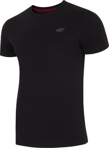 4f Koszulka męska H4L19-TSM002 czarny r. L