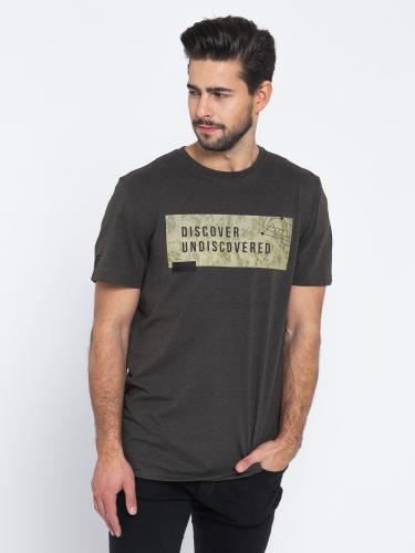 4f Koszulka męska H4L19-TSM005 khaki melanż r. L