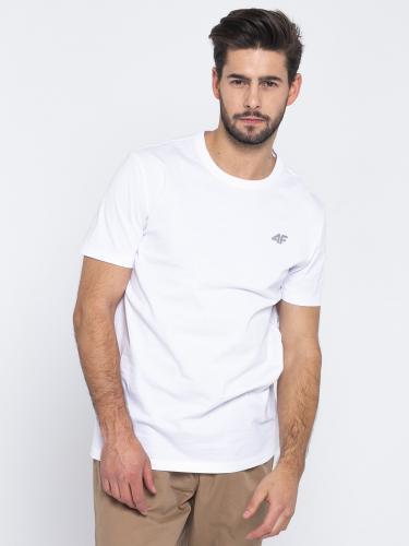 4f Koszulka męska H4L19-TSM002 biały r. M