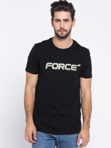 4f Koszulka męska H4L19-TSM006 czarna r. L