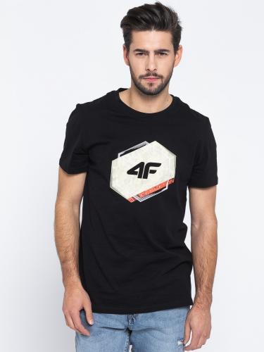 4f Koszulka męska H4L19-TSM010 czarna r. L