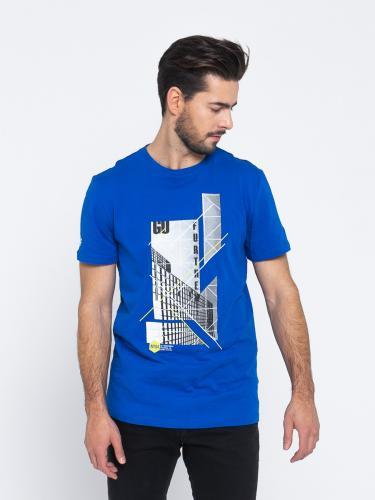 4f Koszulka męska H4L19-TSM022 kobaltowa r. L