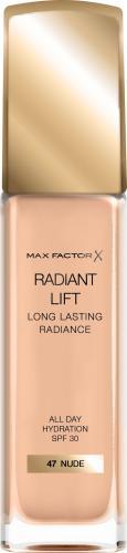 MAX FACTOR Radiant Lift Podkład kryjący nr 47 Nude - 30ml