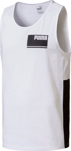 Puma Koszulka męska Summer Rebel biało-czarna r. L