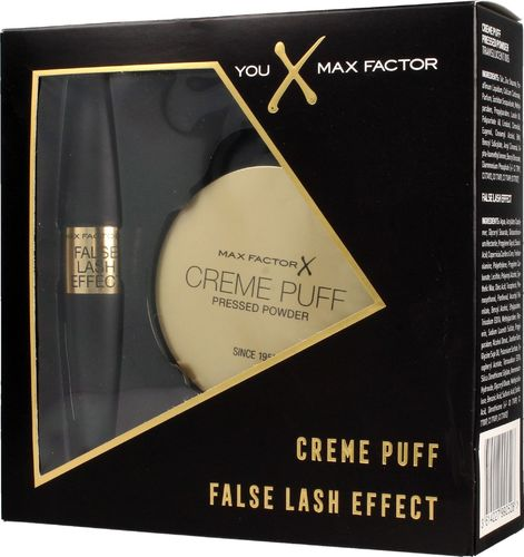 MAX FACTOR Max Factor Zestaw prezentowy (puder Creme Puff nr 005 2.1g+mascara False Lash Effect 9ml)