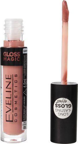 Eveline Eveline Gloss Magic Lip Lacquer Lakier do ust nr 08 Sweet Caramel  4.5ml