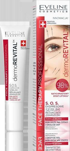 Eveline Eveline Face Therapy Professional Ekspresowe Serum S.O.S. redukujące zmarszczki pod oczy,na czoło i okolice ust  15ml