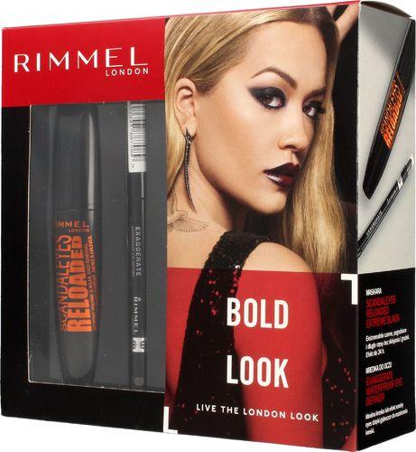 Rimmel  Rimmel Zestaw prezentowy Bold Look (mascara Scandaleyes Reloaded 12ml+kredka do oczu 262)