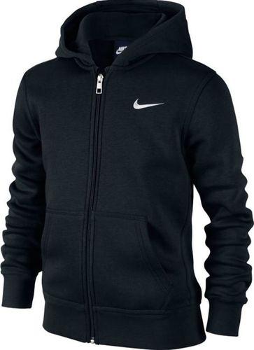 Nike Bluza dziecięca B Hoodie Ya76 Bf Fz Junior czarne r. XS (619069-010)