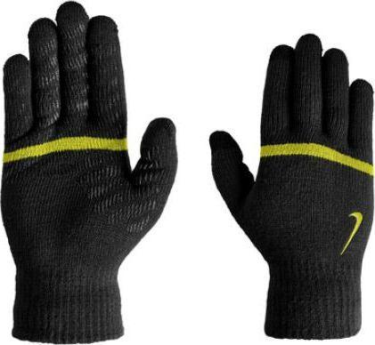 Nike Rękawiczki do biegania Stripe Knitted Tech And Grip czarne r. L/XL
