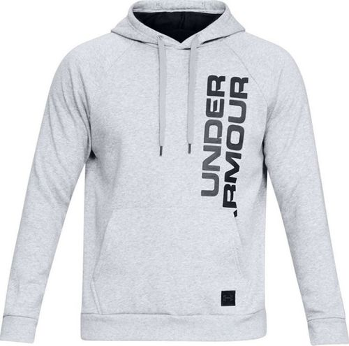 Under Armour Bluza męska Rival Fleece Script Hoody szara r. L (1322028-036)