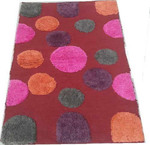 Medvilnės kilimėlis Burbles Red, 50x80 cm