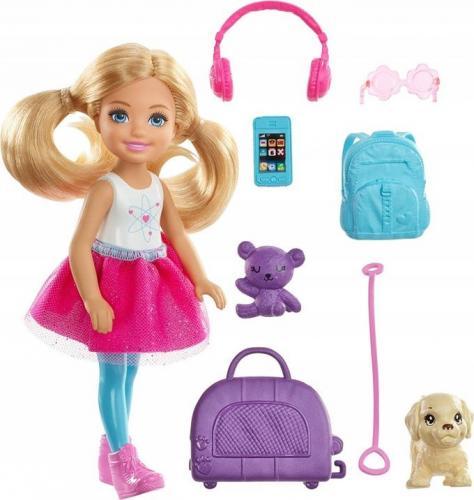 Mattel Dreamhouse Adventures Barbie.  Lalka Chelsea w podróży FWV20
