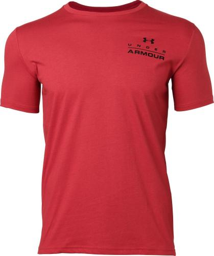 Under Armour Koszulka męska Stacked Left Chest SS czarna r. XXL (1329593-651)