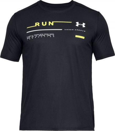 Under Armour Koszulka męska Run Graphic Tee czarna r. S (1342686-001)