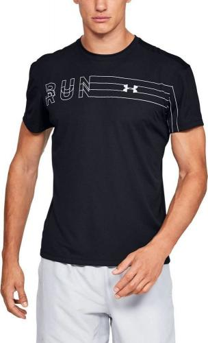 Under Armour Koszulka męska Speed Stride Branded ShortSleeve czarna r. L (1326565-001)