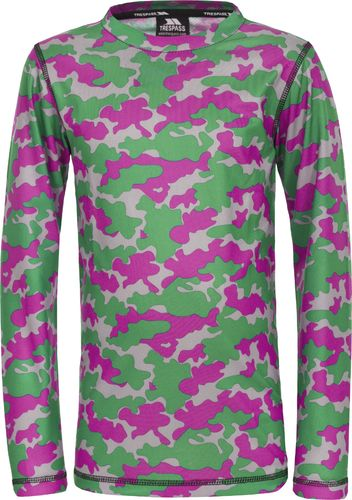 Trespass Koszulka termoaktywna dziecięca Oaf Pink Camo r. 92-98