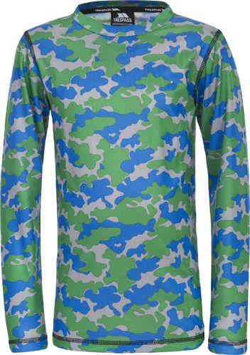 Trespass Koszulka termoaktywna dziecięca Oaf Blue Camo r. 92-98