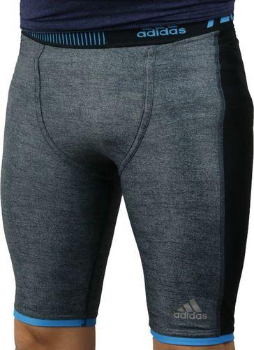 Adidas Legginsy męskie Techfit Chill Short Tights szare r. 46 (S27030)