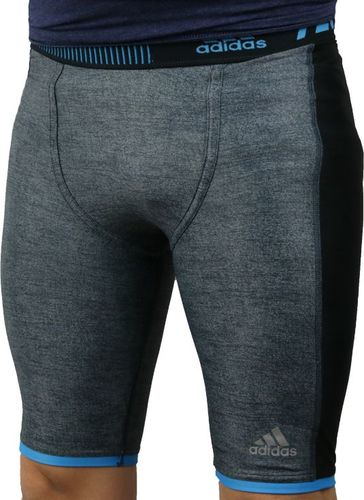 Adidas Legginsy męskie Techfit Chill Short Tights szare r. 50 (S27030)