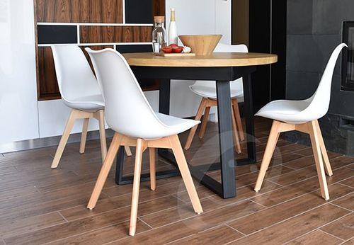 IMAGGIO Krzesło do jadalni plastikowe FRANKFURT - białe universal