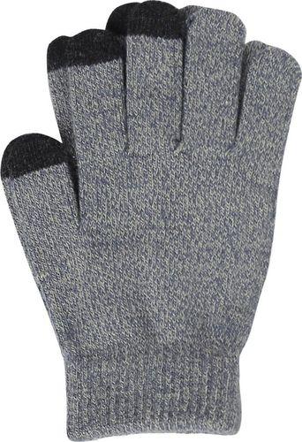 Hurtel Uniwersalne zimowe rękawiczki do ekranów dotykowych antypoślizgowa faktura szary uniwersalny