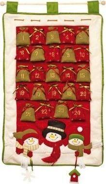Small Foot Kalendarz adwentowy dla dzieci Śnieżynki uniw