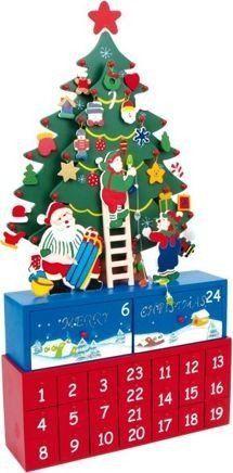 Small Foot Kalendarz adwentowy dla dzieci Choinka na pudełku uniw