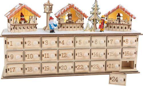Small Foot Kalendarz adwentowy - Podświetlany Świąteczny rynek uniw