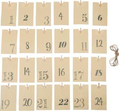 Small Foot Kalendarz adwentowy - papierowe torebeczki uniw