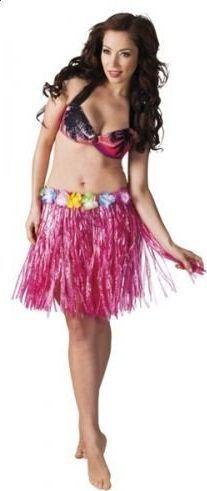 Aster Spódnica hawajska 45 cm różowa uniw