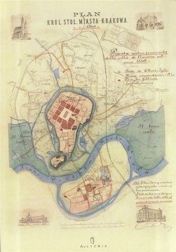 Austeria Notes - plan miasta Krakowa