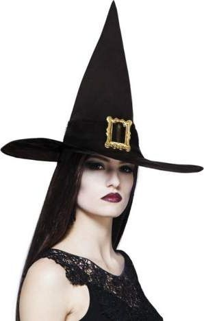 Aster KAPELUSZ CZAROWNICA Z KLAMRĄ - Stroje Halloween uniw