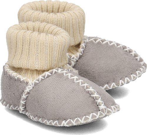 Playshoes Playshoes - Kapcie Dziecięce - 105933 33 - GRAU 16/17