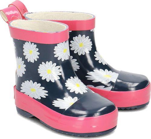 Playshoes Playshoes - Kalosze Dziecięce - 180347 372 - MARINE/PINK 25