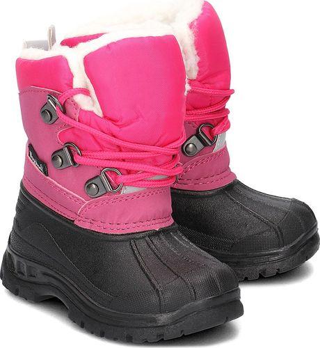 Playshoes Playshoes - Śniegowce Dziecięce - 193006 18-PINK 22/23
