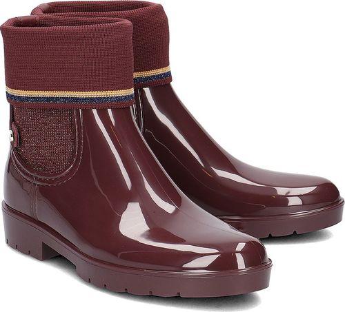Tommy Hilfiger Tommy Hilfiger Knitted Sock Rain - Kalosze Damskie - FW0FW03565 296 37