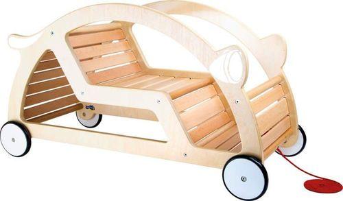 Small Foot Jeździk auto-mobile dla dzieci - naturalne drewno uniw