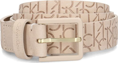CALVIN KLEIN Calvin Klein 3cm Logo Embossed Belt - Pasek Damski - K60K604751 101 90