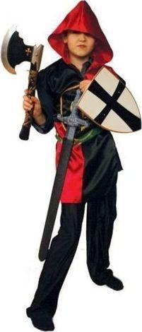Aster Bluza rycerza z kapture czerwono czarna dla dzieci uniw