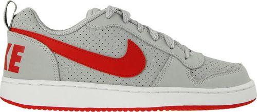 Nike Buty dziecięce Court Borough Low Gs szaro-czerwone r. 36 1/2 (839985-003)