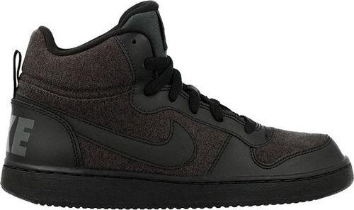 Nike Buty dziecięce Court Borough Mid Se Gs czarne r. 36 (918340-002)