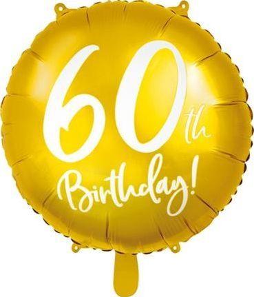 Party Deco Balon foliowy 60th Birthday, złoty, 45 cm uniwersalny
