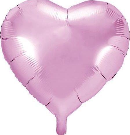 Party Deco Balon foliowy serce, jasny różowy, 45cm uniwersalny
