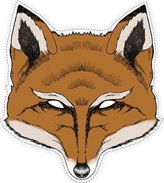 Party Deco Maska imprezowa, lis, pomarańczowa uniwersalny