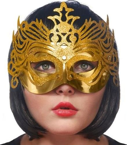 Party Deco Maska imprezowa, ornament, złota uniwersalny